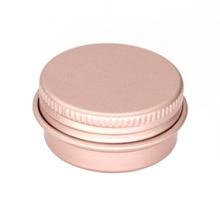 100x15 г 10 г 30 г пустая мини розовая Золотая алюминиевая баночка для крема горшок для ногтей макияж блеск для губ пустые косметические металлические банки контейнеры