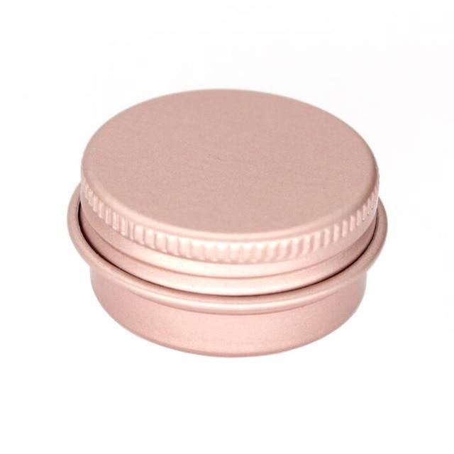 100 x 15g 10g 30g Empty Mini Rose gold Aluminum Cream Jar Pot Nail Art Makeup Lip Gloss Empty Cosmetic Metal Tins Containers
