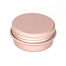 Mini pote vazio de alumínio para maquiagem, pote vazio de creme de alumínio para arte de unha, 100x15g 10g 30g recipientes de latinhas de metal brilhante, cosméticos vazios