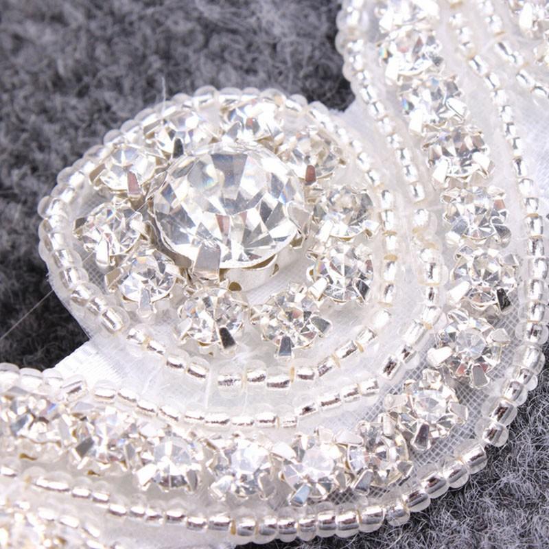 Bridal Hair Accessories Vintage Inspired Rhinestone Headband Crystal Pearls Wedding Headband Women Forehead Hair Jewelry 1 PC 8