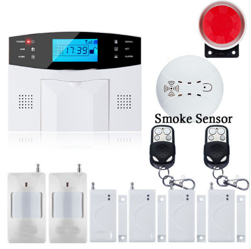 SmartYIBA LCD Display 433MHz Wireless Alarm System SMS GSM Network Home Security PIR Motion Sensor Door open Detector Smoke lcd display 433mhz wireless alarm system sms gsm pstn dual network home security pir motion sensor door open detector smoke