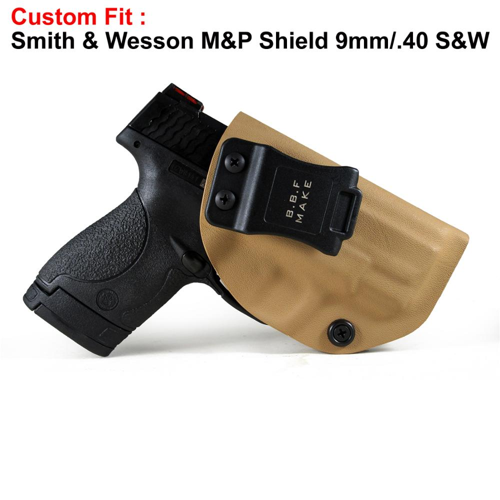 B.B.F Make IWB KYDEX Holster Fits: M&P Shield 9MM/.40 s&w Gun Holsters Concealed Carry Bag Guns Concealment Case