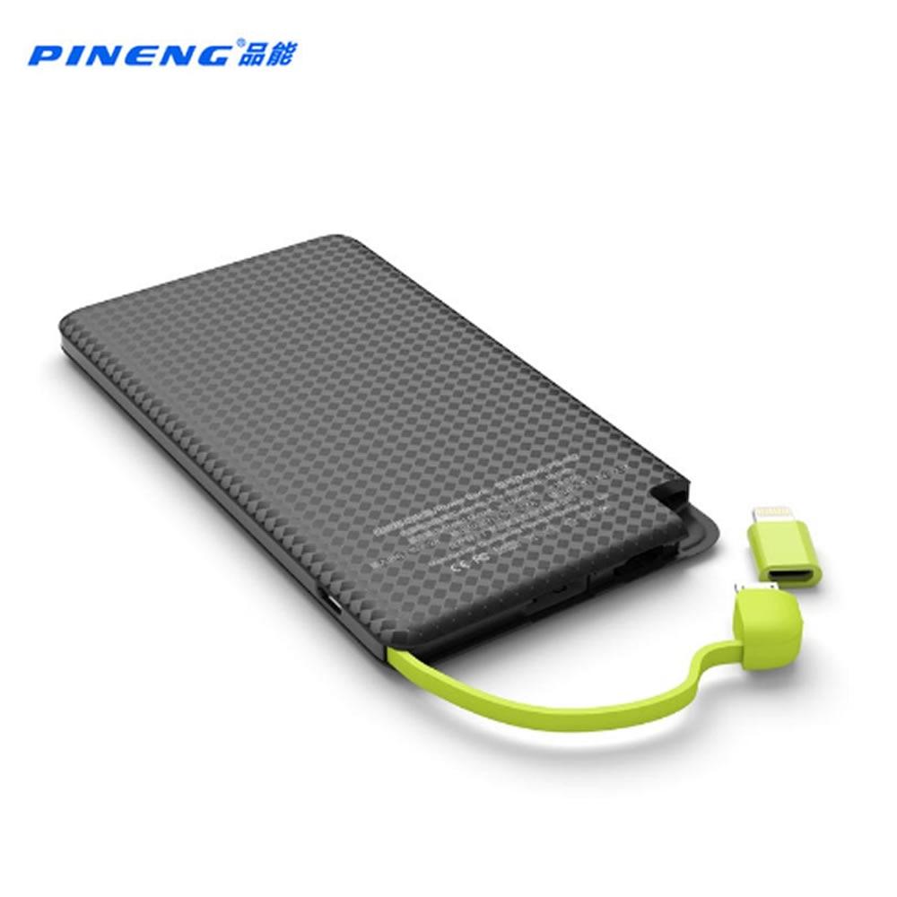 Pineng 5000mah Power Bank PN 952 Mobile Bank power Portable Battery Pack Shake Start Li Polymer