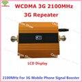 Mais novo LCD Ouro 3G WCDMA 2100 MHZ Mobile Phone Signal Booster GSM Repetidor de Sinal de Reforço, 3G Amplificador de Sinal de Celular GSM