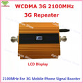 Newest Gold LCD 3G WCDMA 2100MHZ Mobile Phone Signal Booster GSM Signal Repeater Booster  , 3G GSM Celular Signal Amplifier