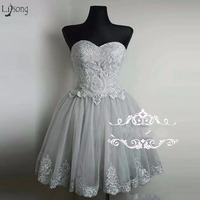 Pretty Lace Homecoming Dresses Short Cocktail Dresses Lace Up Plus Size Formal Party Dress Prom Gowns Robe De Cocktail