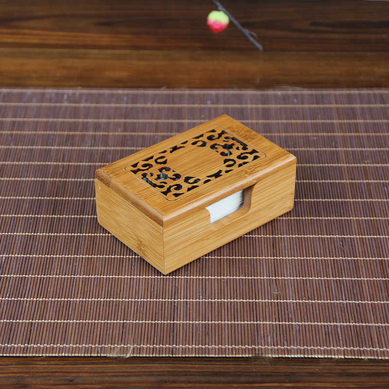 bamboo Business card holder Case Handiwork Desktop Type Personality ...
