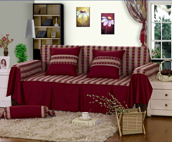 Free Shipping Past Style Cotton Fabric Sofa Cover Couch Slipcovers Sectionals For Multiple Choice Sc 1 In From Home