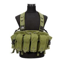 Hot Outdoor Carrier Combat Military Camouflage Tactical Vest With Magazine Pouch Airsoft Chest Rig Backpack