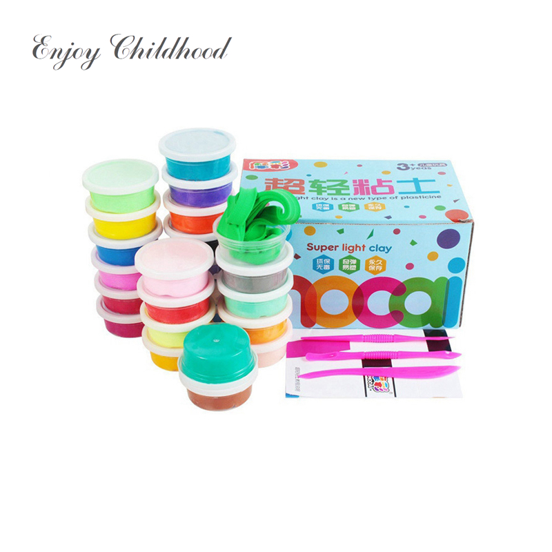 [FoPcc] 12/24/36 Color Polymer Clay Plasticine Modelling Toys Creative Intelligent Modeling Clay Light Plasticine