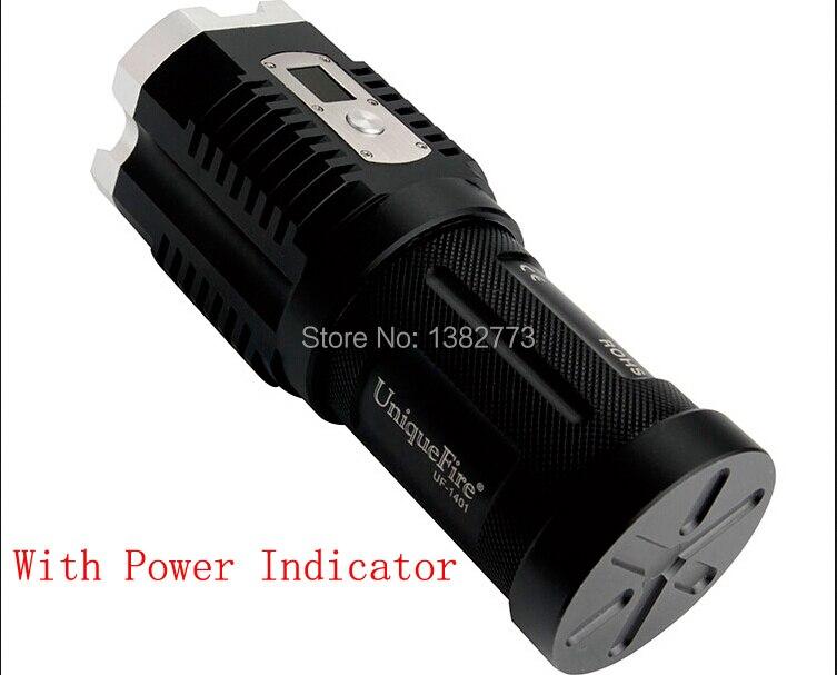 UniqueFire torche LED d'affichage numérique 4x Cree XM-L2 3600LM 5 Modes Camping chasse 4x18650 batterie lampe de poche LED