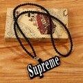 Men's Design Long Acrylic Beads Chain Necklace Hip Hop Style Supreme Pendant Necklace Hiphop Design Charm Jewelry