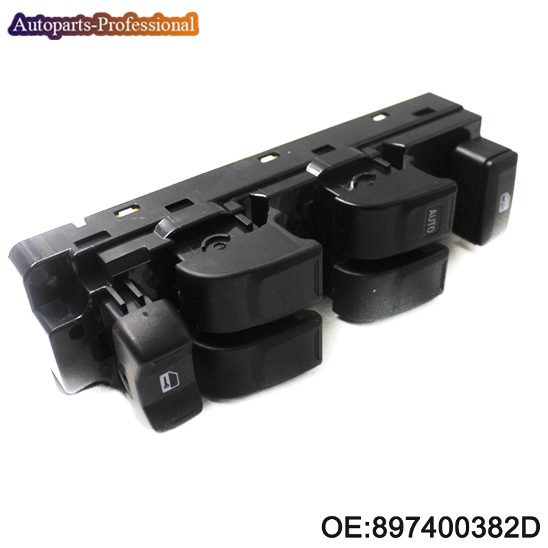 Free shipping! 897400382D New High Quality Front Left Electric Power Window Switch Fit For Isuzu D-max 2003-2011 free shiping for isuzu d max black front