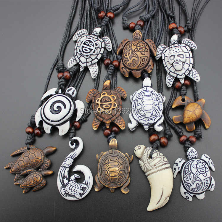 Hot Selling 12pcs Imitation Yak Bone Carving Lucky Surfing Turtles Pendant Adjustable Cord Necklace Amulet Gift Mn329 Gift Band Gifts For Soccer Playersgift Packging Aliexpress