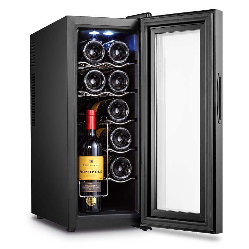 6 Layers Large Capacity 12 Red Wine Cabinets Constant Temperature Wine Refrigerator Commercial Bar Wine Cabinet Home Small Tea