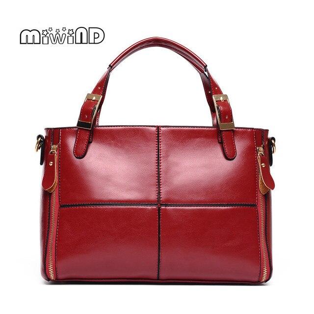 MIWIND Luxury Handbags Women Bags Designer Leather Bags Women 2017 Fashion Handbag Women Messenger Bags Free Shipping