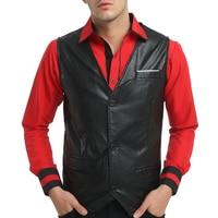 9 colors 2018 Winter PU solid male blazer Vests Men Gentleman Businesswear Slim Casual Waistcoat Formal Vest New Arrival MQ329