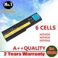 Wholesales New 6 cells Laptop Battery For IBM ThinkPad X200 X200S X201 X201S X201i Series  42T4534 42T4535  Free shipping
