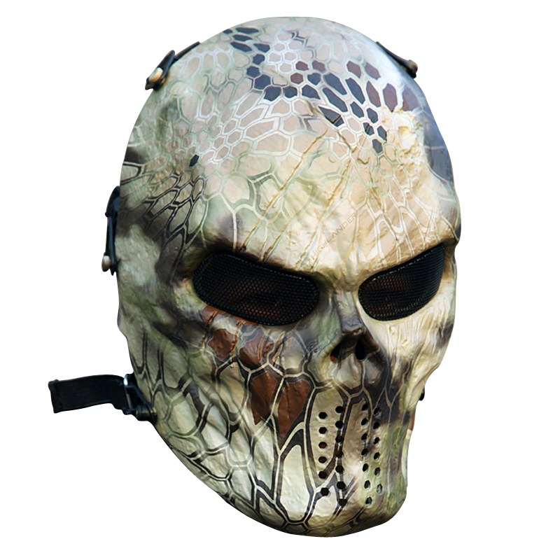 New Cool Typhoon Camouflage Hunting Accessories Full Face Mask Military Tactical Outdoor Wargame CS Paintball Airsoft Skull Mask