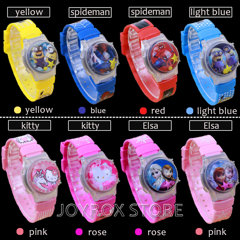 JOYROX LED Silikon Barn Klocka Clamshell Jelly Digital Armbandsur Hot - Barnklockor - Foto 3