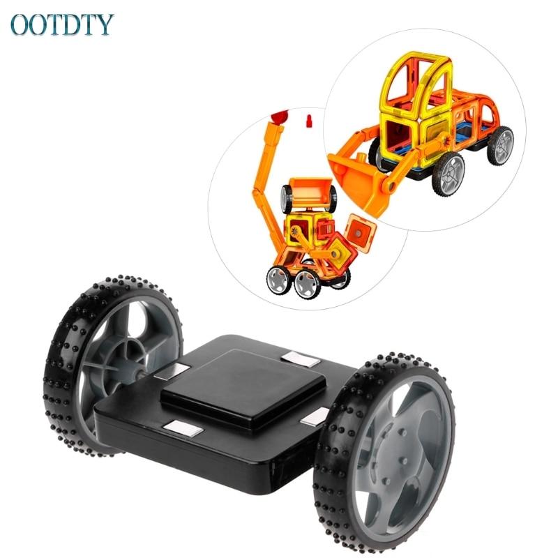 Yüksek Kalite Manyetik Yapı Taşı Araba Taban Tekerlekleri Tasarımcı Inşaat Tuğla Uyumlu Oyuncak #330