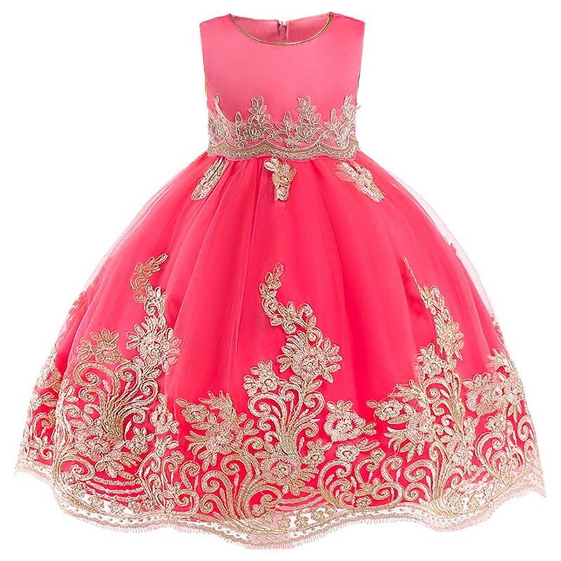 Children's Party Dress First Communion Dresses Girls  Flower Dress Kids Clothes Little Ladies Baby Ball Gown Vestido Costume