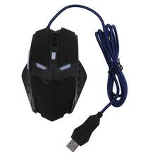 USB Wired Backlight Mouse Optical 6 Button Ergonomic Silent Gaming Mause 2400DPI Adjustable Mice for Computer Laptop Notebook PC