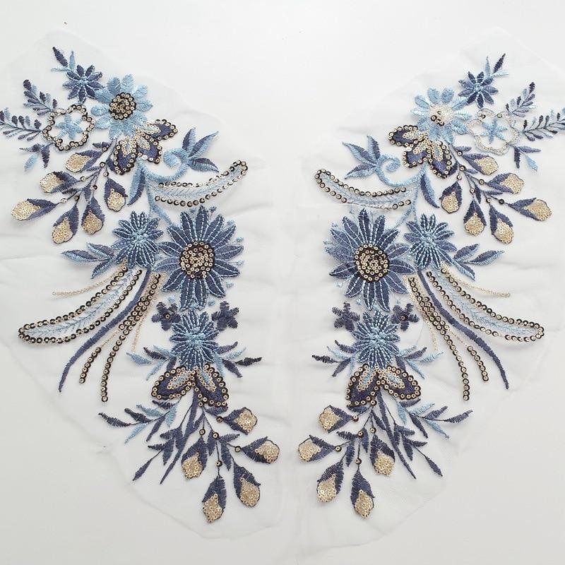 New Pinliang Piece Embroidery Big Cloth Decoration Flower Fashion Wedding Dress Fashion National Embroidery Handmade DIY