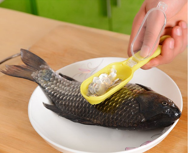 1 UNID Limpieza rápida Escamas de piel de pescado Descamador - Cocina, comedor y bar