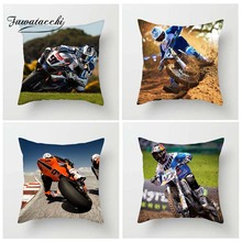 Fuwatacchi Motocross Athlete Cushion Cover Motorcycle Show  Throw Pillow Cover Decorative Sofa Pillow Case Pillowcase show chrome standard ultragard classic half motorcycle cover cranberry