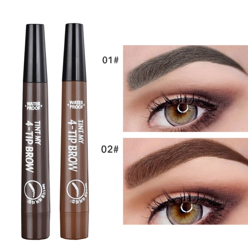 Fork Tip Liquid Eyebrow Pencil Quick-Drying Waterproof Sweatproof Natural Lasting Eyes Beauty Makeup Product Easy To Apply image