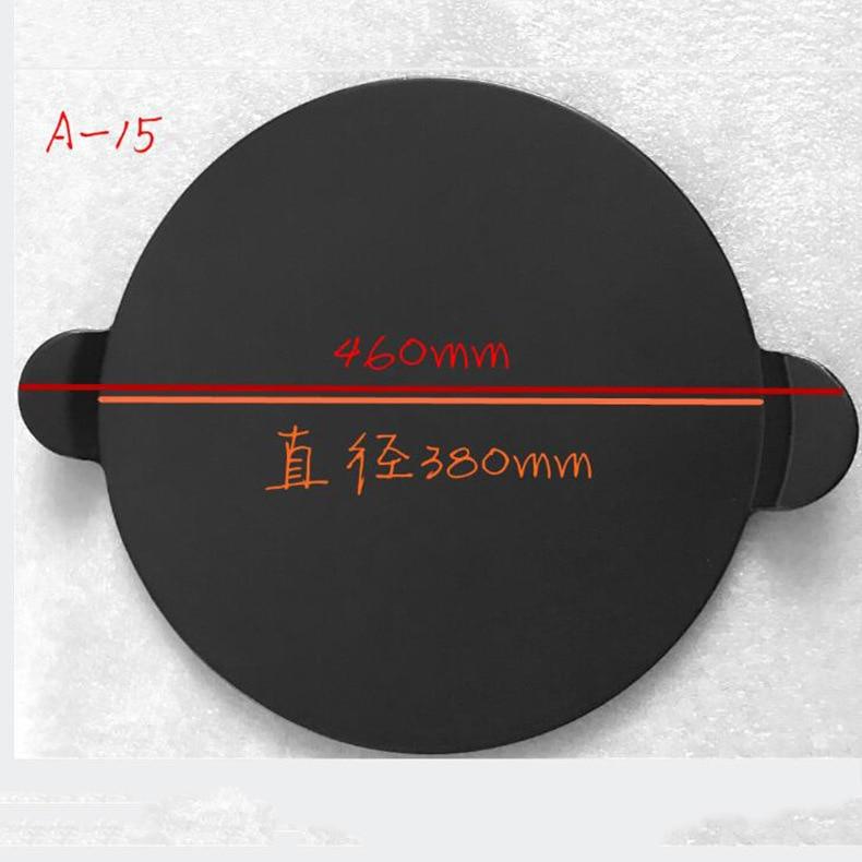 Alta qualidade preto esmalte pizza placa redonda refratário cerâmica isolamento placa de pedra pedras pizza pizza pan bakeware pizza ferramentas - 6