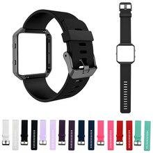 8 renk spor bileklik fitbit blaze saat yumuşak silikon saat kayışı için fitbit blaze saat değiştirme kayışı bahar çubuğu