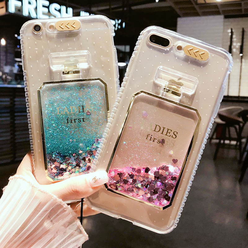 Luxury Bling Stars Dynamic Liquid Quicksand Clear Phone <font><b>Case</b></font> For <font><b>iPhone</b></font> X 10 6 S 8 7 Plus 5S SE <font><b>Led</b></font> Flash Light Up Girl Cover