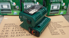 Freeshipment 2015 New 2 in 1 double Portable gas heater/gas cooker for outdoor camping