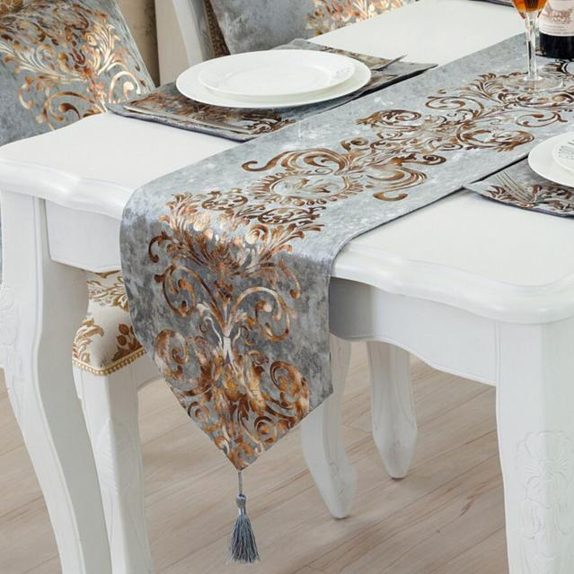 Fashion European Luxury Table Runner Hotel Western Food Table