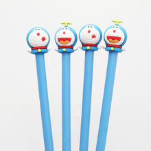 24pcs/lot 19cm Japan Cute Doraemon Cartoon Black Ink Writing Pens Kids Birthday Festival Party Take-home Favor Office Material(China)