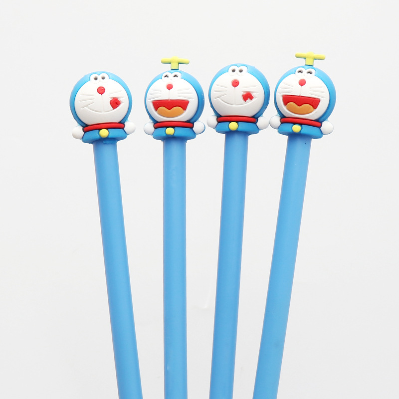 24pcs/lot 19cm Japan Cute Doraemon Cartoon Black Ink Writing Pens Kids Birthday Festival Party Take-home Favor Office Material