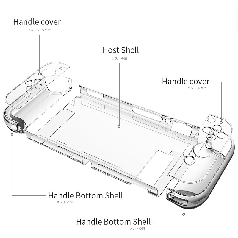Afneembare kristal transparante hoes voor Nintendo Switch NS NX - Spellen en accessoires - Foto 2