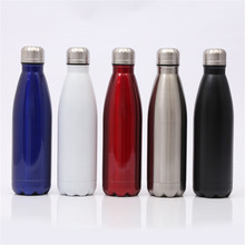 BPA Free Water Bottle 500ml Stainless Steel Vacuum Insulated Solid Color Thermos Trip Portable Tea Coffee Cup