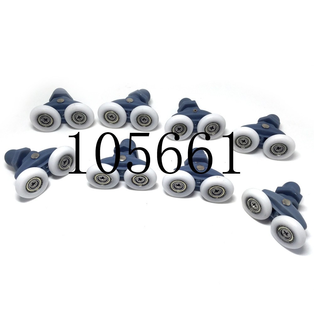 4PCS-8PCS Twin Shower Door Rollers/Runners 19/23/25/27mm Wheels Diameter Bathroom Door Runners Sliders Wheels Double Wheel