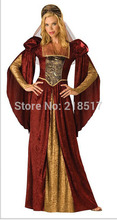 Free Shipping Halloween Party Costumes Adult Woman Dress Luxury Roman Greece Costumes  Princess Queen Cosplay Costume New