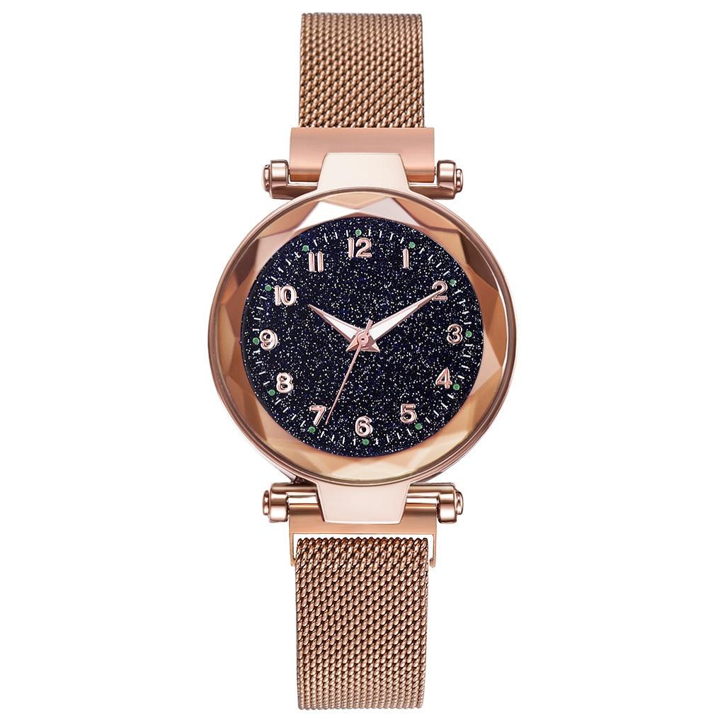 Fashion Diamond Female Quartz Wristwatches Luxury Women Watches Ladies Starry Sky Magnet Buckle Clock Relogio Feminino
