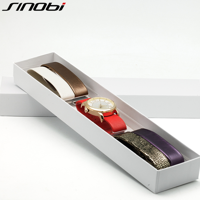 SINOBI Top Brand Luxury Ladies Quartz Watch Set With 5 Included Color Straps