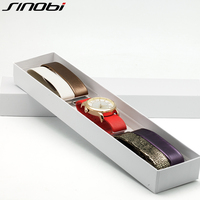 SINOBI Top Brand Luxury Quartz Watch Women 5 Color Straps Set Reloj Mujer 2016 Fashion Band