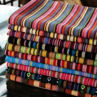Polyester With Cotton Yarn Dyed Upholstery Fabric Bars Restaurants Cafes Home Decoration Curtain Tablecloth Sofa Thick