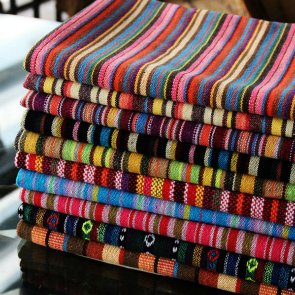 №Thick Polyester Cotton Yarn Dyed Upholstery Textile Bars ...