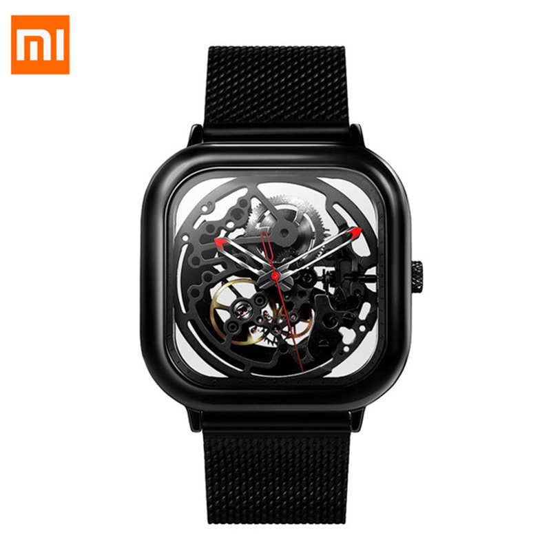 Xiaomi CIGA Wristwatch Hollow Mechanical Watches Fashion Stainless Steel Braided Band Automatic Mechanical Core Men's SmartWatch цена и фото