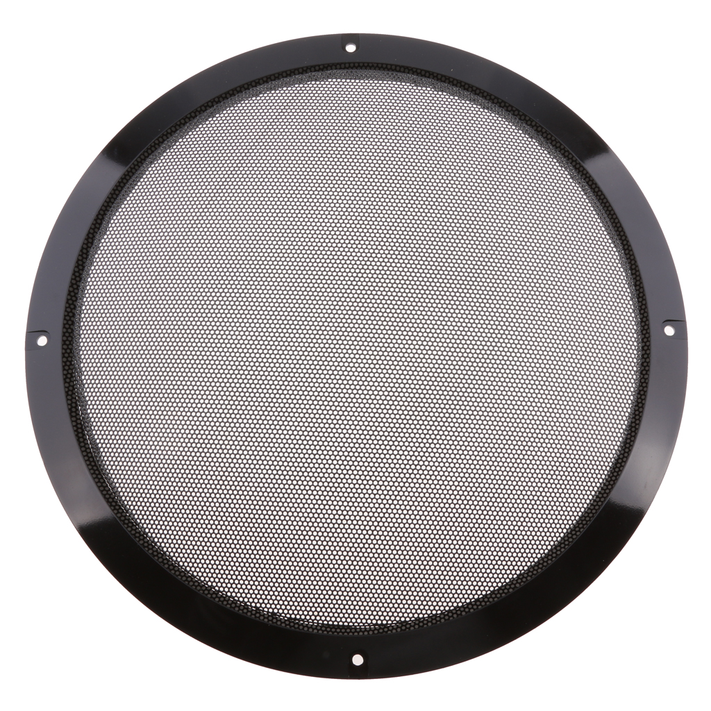 10 inch Black Color Mesh Speaker Decorative Circle Subwoofer Grill Cover Guard Protector with Screw|Car Stickers| |  - title=