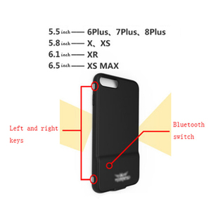 Image 4 - Bluetooth 4.0 PUBG משחק נייד טלפון מעטפת עבור iPhone 6/7/8 בתוספת X/XS XR XS מקסימום נבנה ב 180mA סוללה מגן כיסוי מקרה